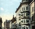Klagenfurt, Burgasse mit Hotel Moser, 1909.