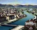 Graz, Ferdinandsbrücke mit Blick gegen die Murenge, 19..?
