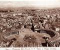 Rim, Panorama dalla Cupolla di S. Pietro e Piazza omonima, 1933.